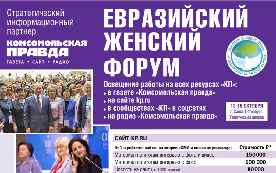 Евразийский женский форум, 13-15 октября 2021